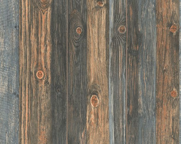 Wallpaper wooden style board brown grey AS Creation 9086-12