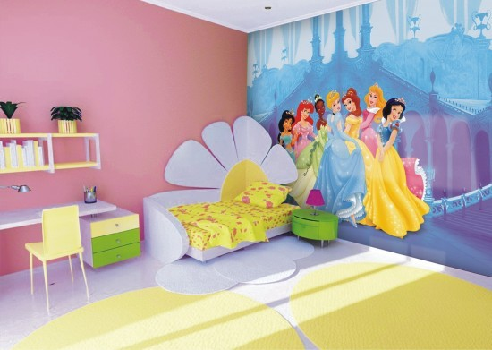 Wall mural wallpaper Disney princess princesses kids wallpaper photo 360 cm x 254 cm / 3.94 yd x 2.78 yd online kaufen