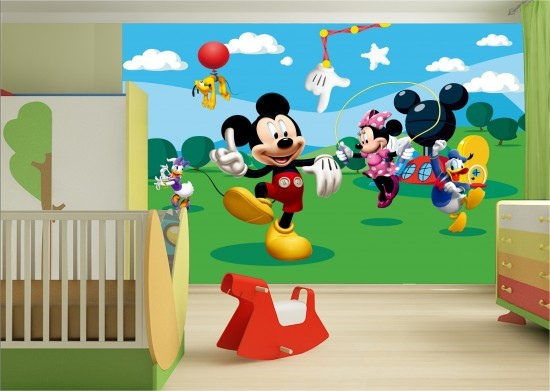Wall mural wallpaper Disney Mickey Mouse kids wallpaper photo 360 cm x 254 cm / 3.94 yd x 2.78 yd online kaufen