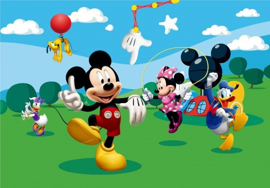 Wall mural wallpaper Disney Mickey Mouse kids wallpaper photo 360 cm x 254 cm / 3.94 yd x 2.78 yd