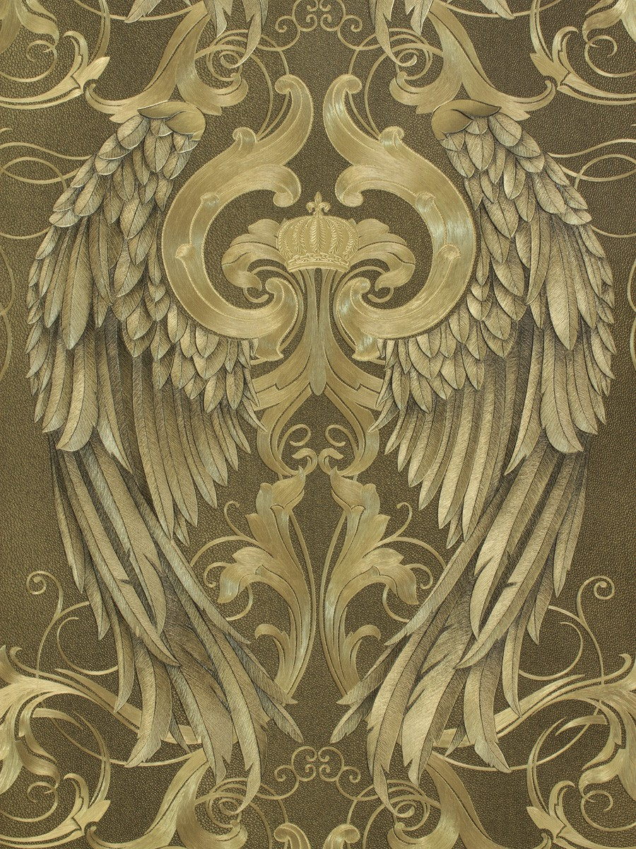 Wallpaper Gloockler Angel Wings Gold Metallic