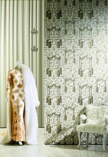 Wallpaper Glööckler curtain black Metallic 52530 online kaufen