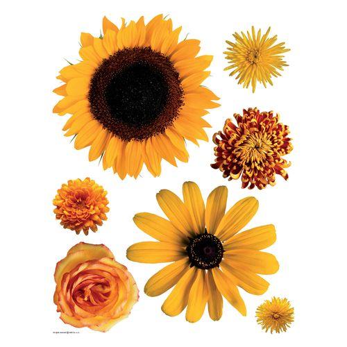 Wandtattoo Wandsticker Wanddeko Sonnenblumen gelb