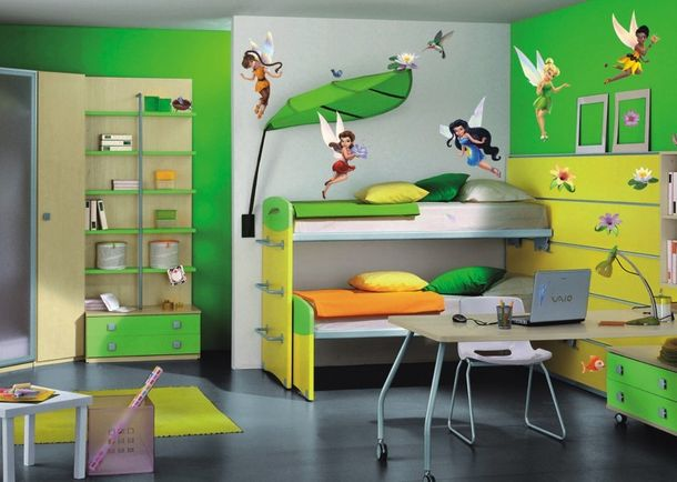 Kids wall tattoo wall sticker TÜV - Tinkerbell fairies online kaufen