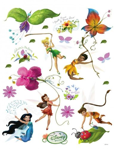 Wall tattoo wall sticker tattoo wall decoration TÜV - Tinkerbell Tinker Bell fairies flowers online kaufen