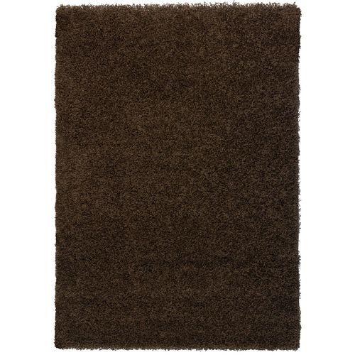 Langflor Teppich Hochflor Teppich Uni Einfarbig braun Fancy online kaufen