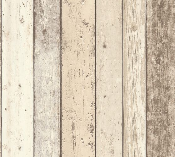 Wallpaper 8951-10 wooden style board white AS Creation