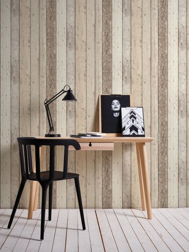Wallpaper 8951-10 wooden style board white AS Creation online kaufen