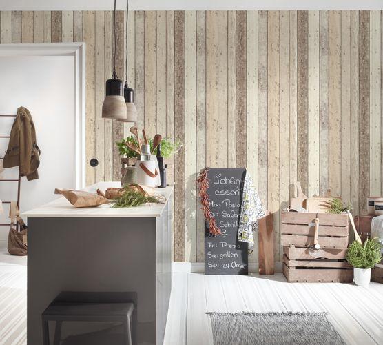 Vliestapete 8951-10 Holz-Optik Planken weiß AS Creation online kaufen