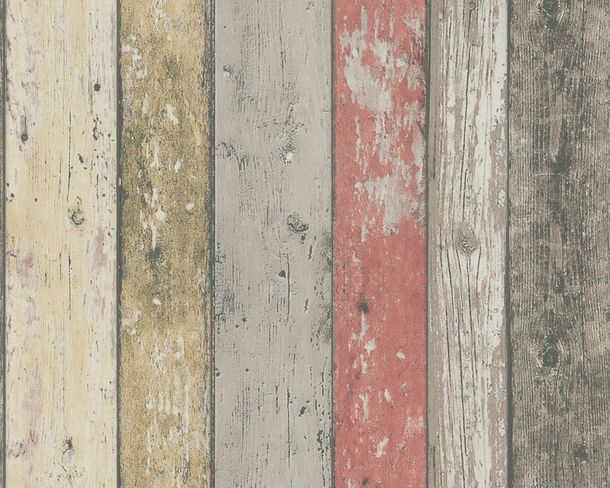 Wallpaper wooden style board red brown AS Creation 8951-27 online kaufen