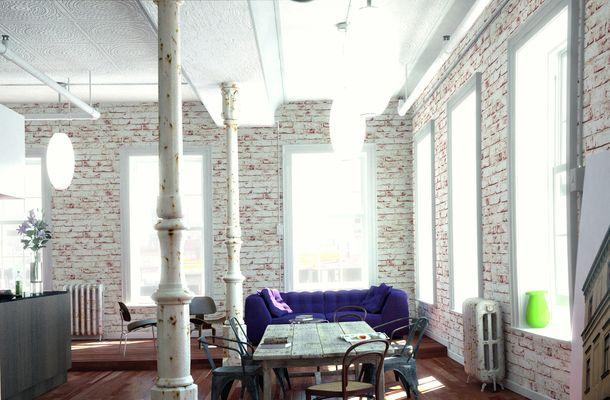 Vliestapete Stein-Optik Mauer weiß rot AS 9078-13 online kaufen