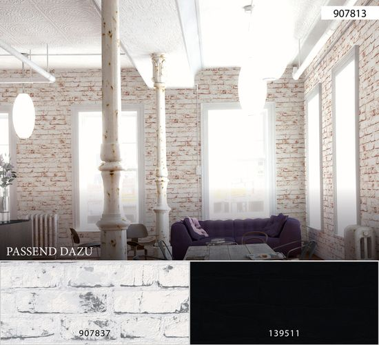Wallpaper stone optic white red by AS Creation 9078-13 online kaufen