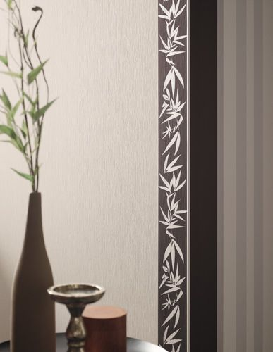 Non-woven border Jette Joop 2 border 2941-35 294135 border flowers bamboo grey silver online kaufen