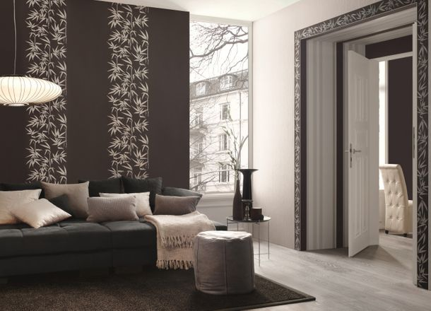 Non-woven border Jette Joop 2 border 2941-42 294142 border flowers bamboo anthracite grey online kaufen