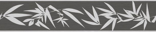 Non-woven border Jette Joop 2 border 2941-42 294142 border flowers bamboo anthracite grey