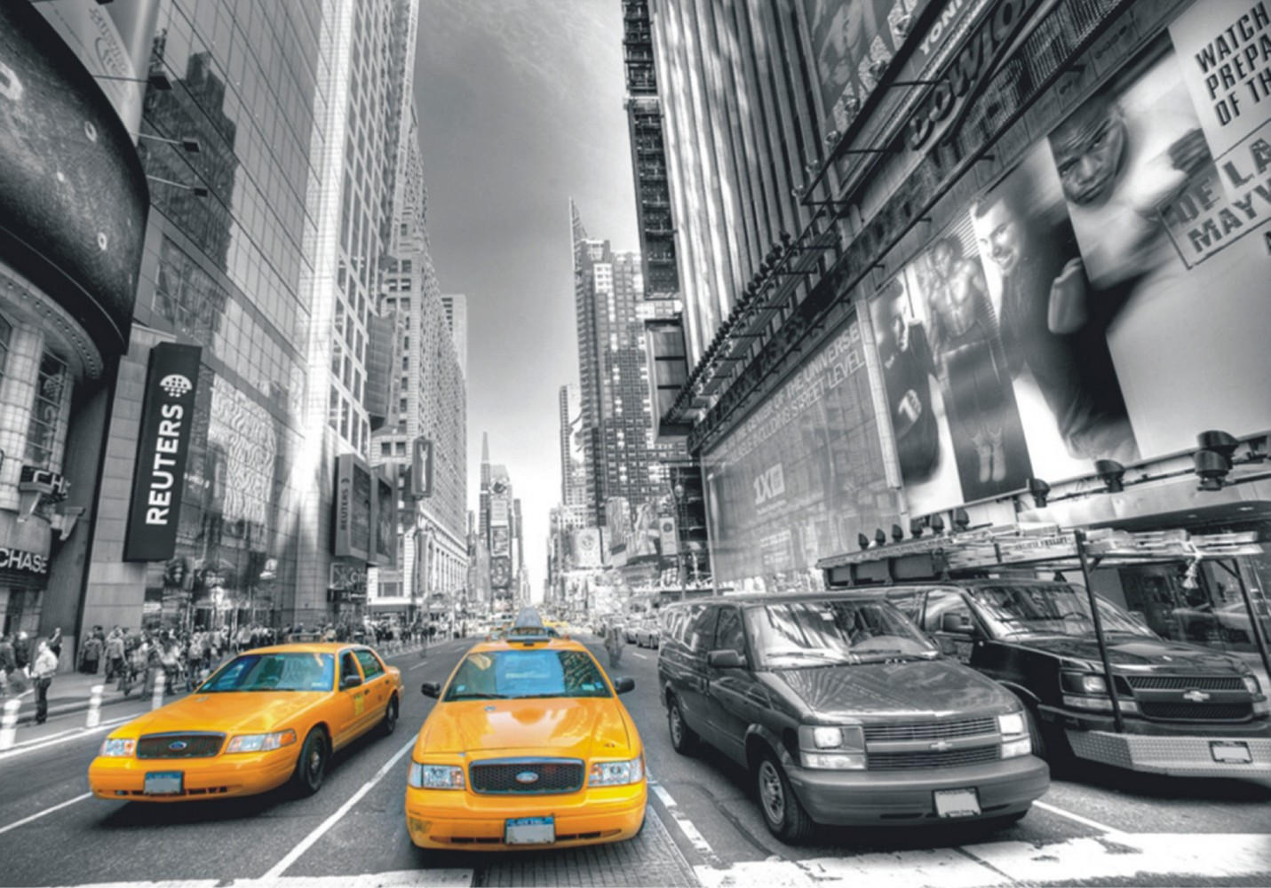 fototapete tapete new york taxi yellow cap manhattan nyc foto 360 cm x 270 cm. Black Bedroom Furniture Sets. Home Design Ideas