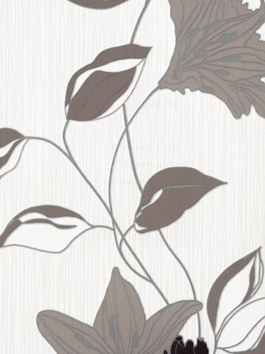 Design-non-woven-wallpaper Daniel Hechter wallpaper 9128-31 912831 Flowers brown
