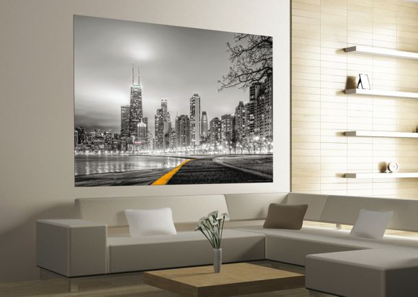 XXL Poster Wall mural wallpaper New York Skyline NYC photo 160 cm x 115 cm / 1.75 yd x 1.26 yd grey online kaufen