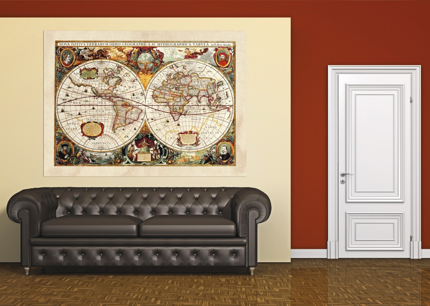 XXL Poster Wall mural wallpaper history world map geography photo 160 ...