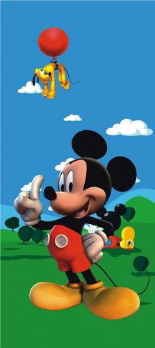 "Door wallpaper Wall mural wallpaper Disney Micky mouse & Pluto photo 90 cm x 202 cm / 35.43"" x 2.21 yd online kaufen"