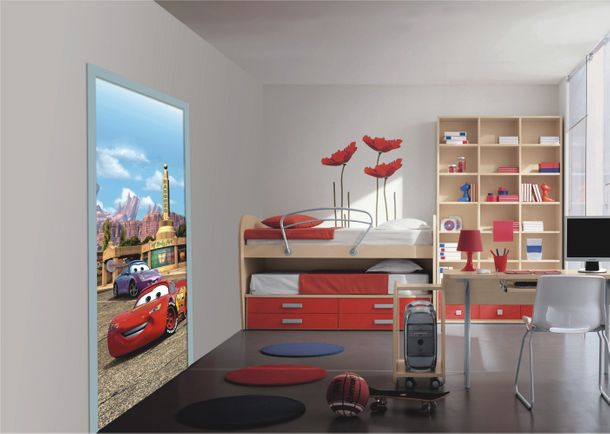 "Door wallpaper Wall mural wallpaper Cars 2 Lightning McQueen & Sally photo 90 cm x 202 cm / 35.43"" x 2.21 yd online kaufen"