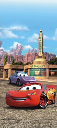 Door wallpaper Wall mural wallpaper Cars 2 Lightning McQueen & Sally photo 90 cm x 202 cm / 35.43  x 2.21 yd