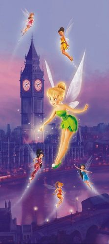Door wallpaper Wall mural wallpaper Disney Tinkerbell Feen Tinker Bell photo 90 cm x 202 cm / 35.43  x 2.21 yd
