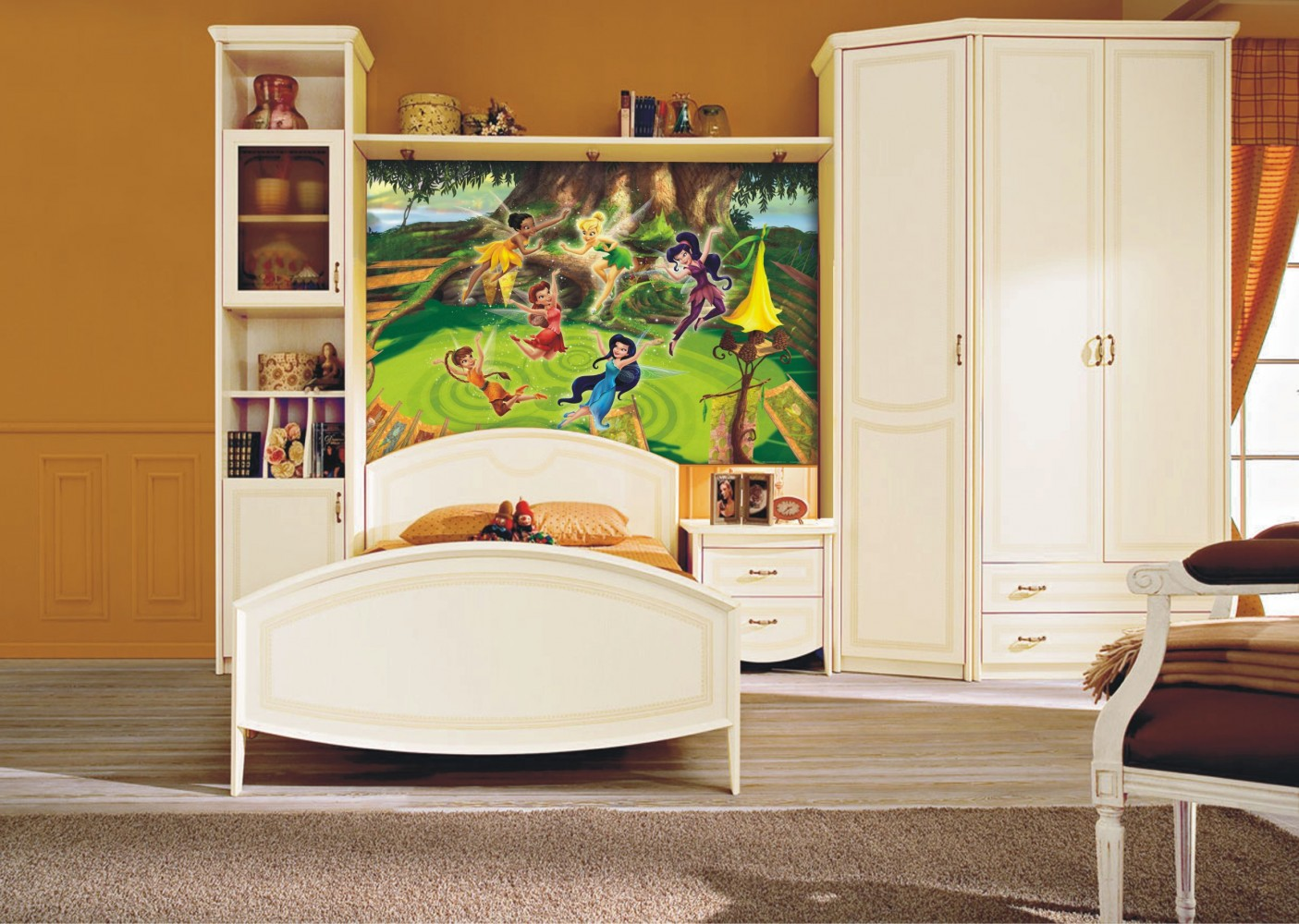 xxl poster wall mural wallpaper disney tinkerbell feen tinker bell photo 160 cm x 115 cm. Black Bedroom Furniture Sets. Home Design Ideas