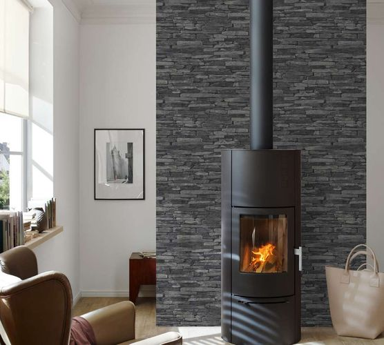 A.S. Création non-woven wallpaper Wood'n Stone wallpaper 9142-24 914224 stone wall grey online kaufen