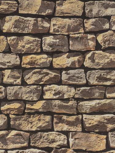 Wallpaper natural stone bricks brown AS Creation 9079-12