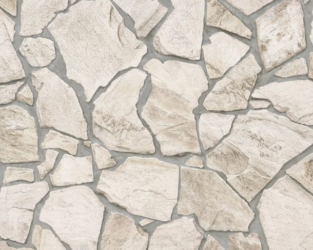 A.S. Création non-woven wallpaper Wood'n Stone wallpaper 9273-23 927323 stones mosaics cream beige