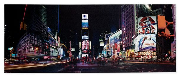 Picture canvas mural New York Times Square night USA 40x100 cm online kaufen