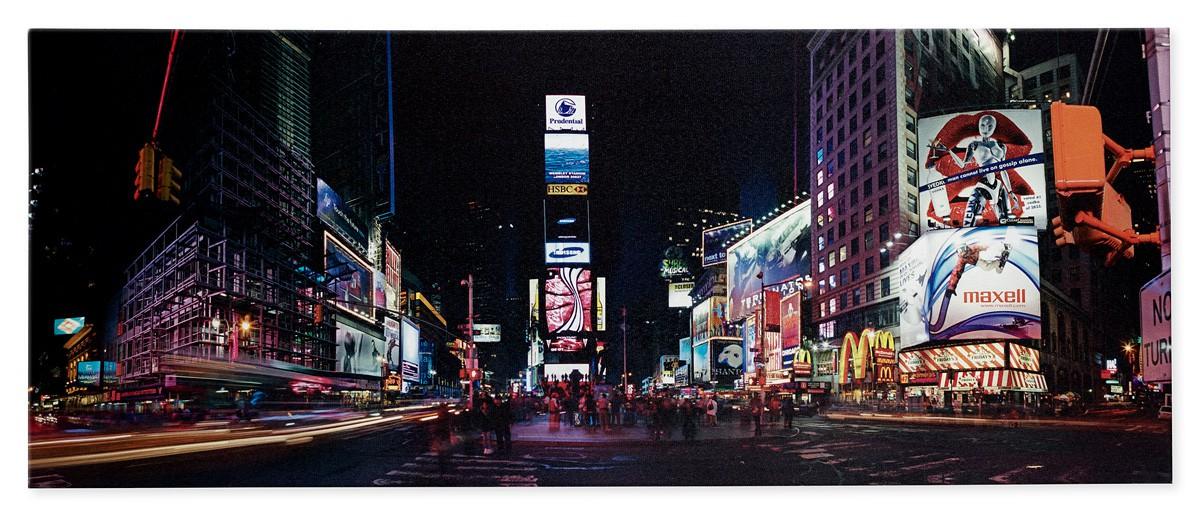wandbild fototdruck new york times square 40x100 cm. Black Bedroom Furniture Sets. Home Design Ideas