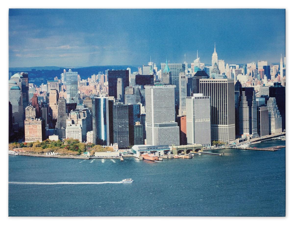 Picture Canvas Print Mural New York Skyline 3d Manhattan Nyc 60x80 Cm