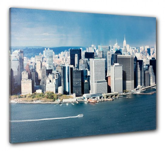 Picture Canvas print mural New York Skyline 3D Manhattan NYC 60x80 cm online kaufen