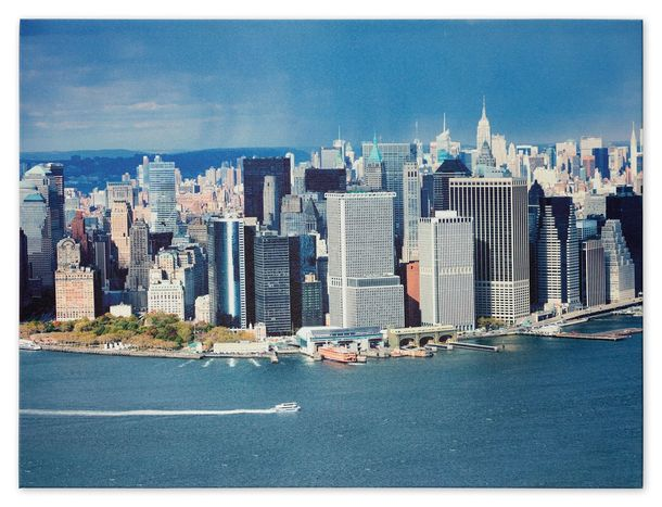 Picture Canvas print mural New York Skyline 3D Manhattan NYC 60x80 cm