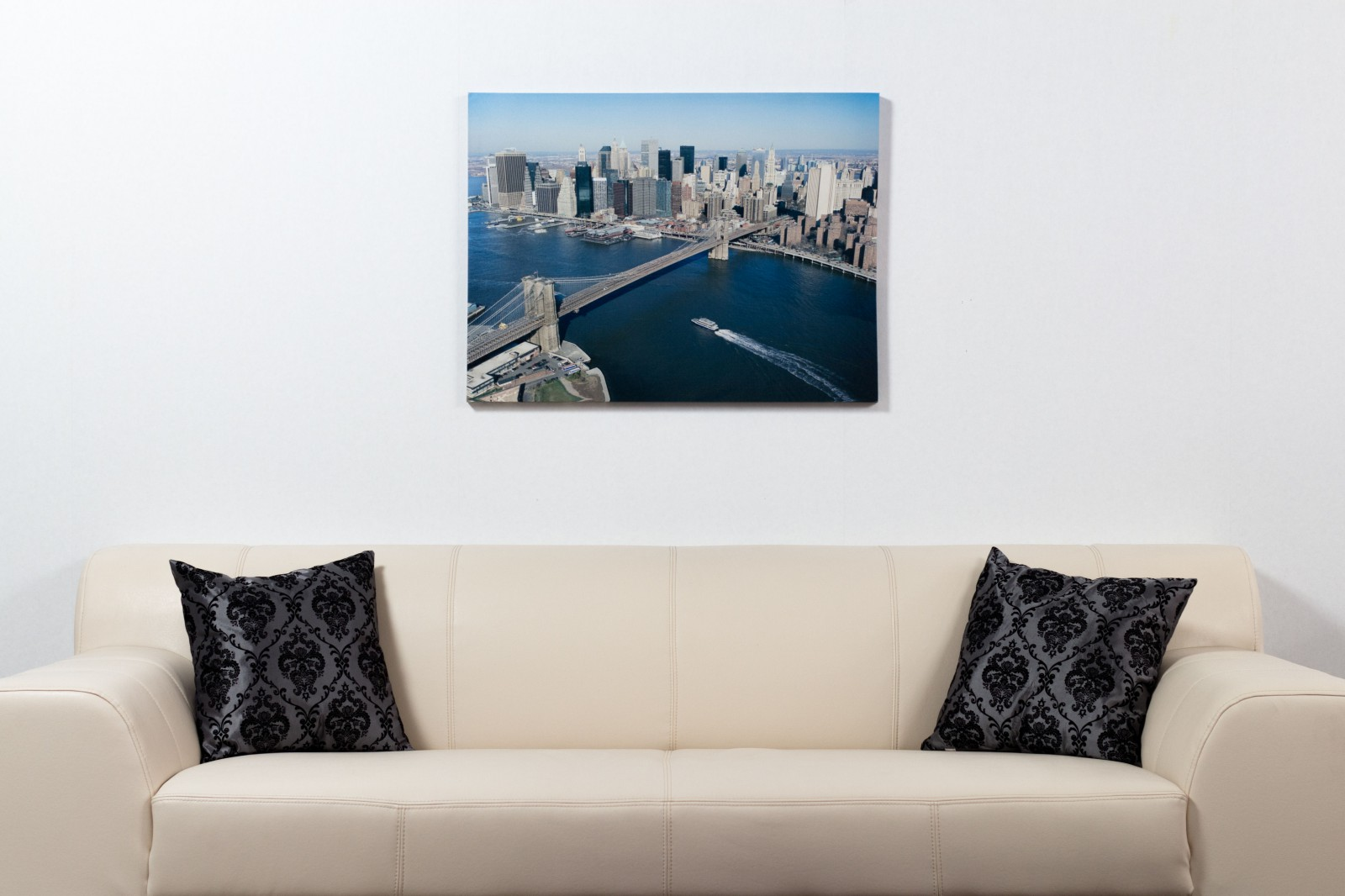 picture canvas print mural new york skyline 3d brooklyn. Black Bedroom Furniture Sets. Home Design Ideas
