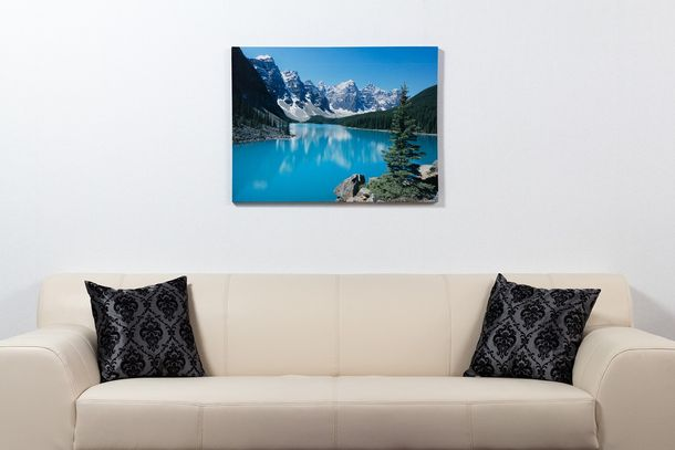 Picture Canvas print mural Nature Sea Mountains River Holiday 60x80 cm online kaufen