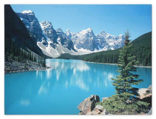 Picture Canvas print mural Nature Sea Mountains River Holiday 60x80 cm
