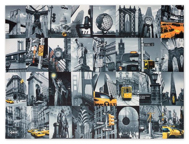 Picture canvas mural New York City Cap stature of liberty Golden Gate 60x80 cm