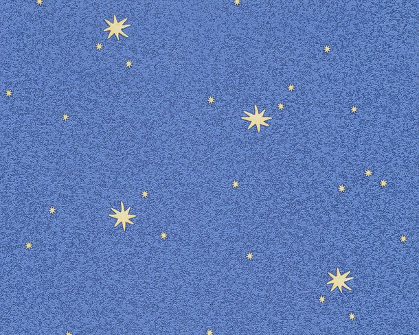 Vinyl Wallpaper Retro Stars blue yellow 9117-11
