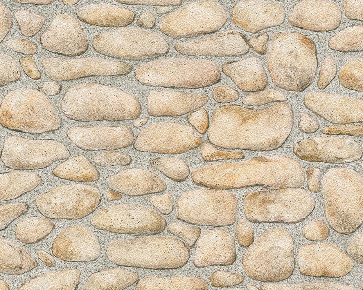 tapete beige grau stein as creation 8345 15. Black Bedroom Furniture Sets. Home Design Ideas