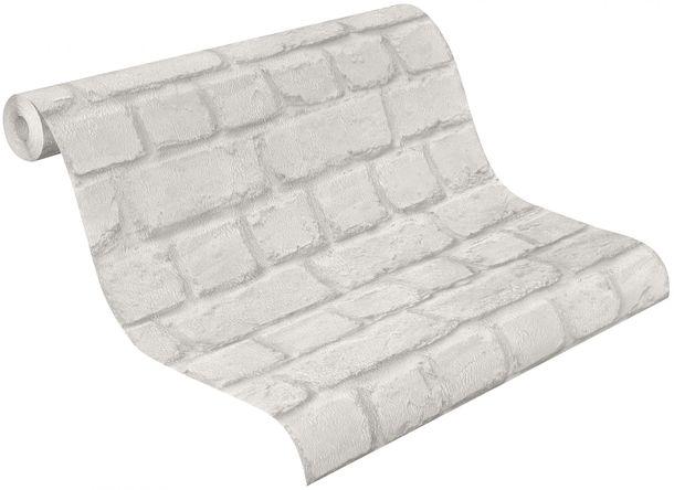 Papiertapete Stein Steinmauer Rasch grau 226713