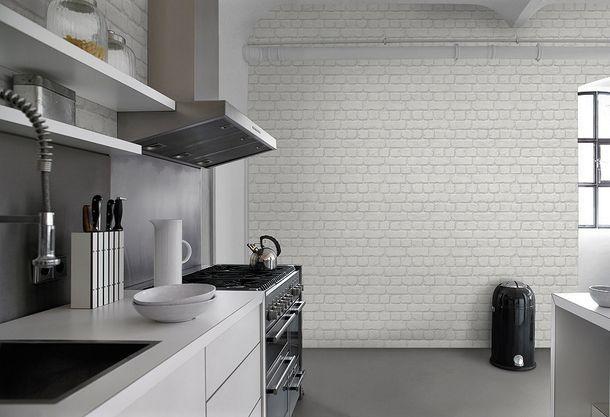 Teen's Wallpaper Stone Wall Brick grey Rasch 226713 online kaufen