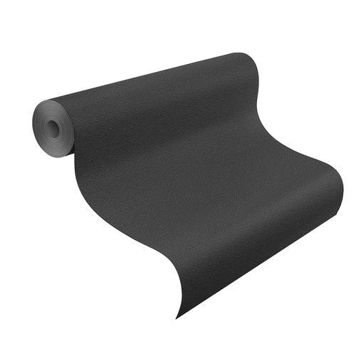 Non-Woven Wallpaper Plain Structured black Rasch 740271 online kaufen