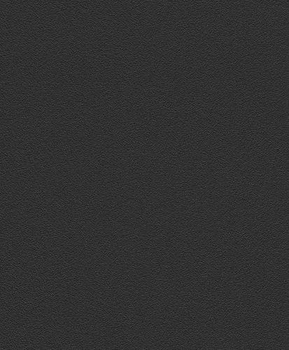 Vliestapete Uni Strukturiert schwarz Rasch 740271
