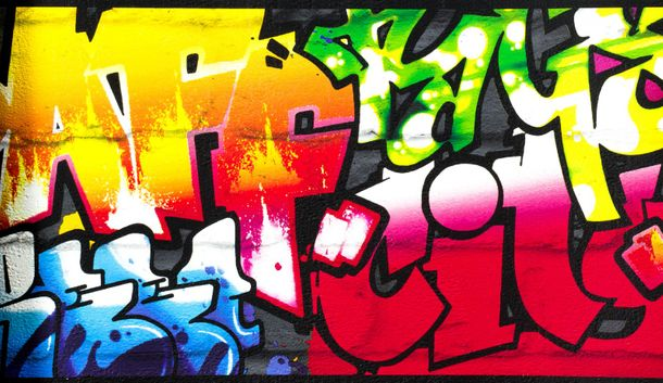 Teens's Border Graffiti black colourful Rasch 237900 online kaufen
