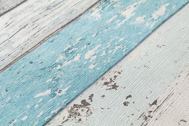 Vliestapete Holz-Optik Planken grün blau AS Creation 8550-77 online kaufen