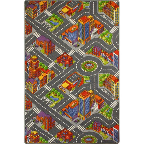 Street carpet Big City 183x122 cm colorful