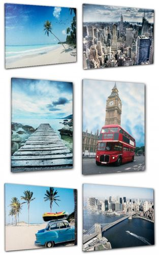 Picture mural canvas print 60x80 cm in 6 different Designs